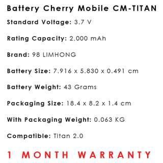 Cherry Mobile Titan 2.0 Battery CM-TITAN 2.0