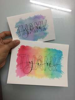 Watercolour Handlettered Cards