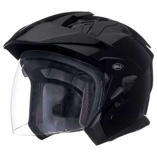 Bell Mag-9 Mag 9 SIZE SMALL ONLY Solid Gloss Black Adult Open face Street Helmet D.O.T. Certified Motorcycle Motorbike Helmet 3/4 Face