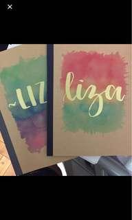 MUJI A5 Customised Embossed Notebook