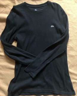 Lacoste Black Pullover (size 5)