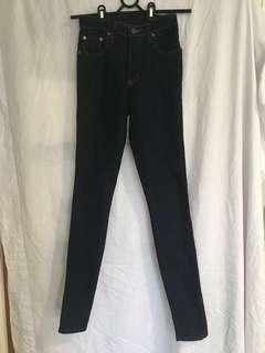 Nobody- Dark blue skinny jeans mid waist