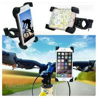 Bike Mount Universal Bicycle Motorcycle Phone Holder Cycle Adjustable Cradle Rotate 360 Degrees Handlebar Roll Bar For Smartphone iPhone GPS