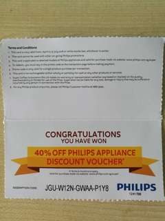 🚚 Philips Super 40% discount voucher