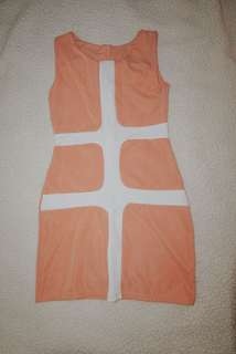 Fitted Peach Dress