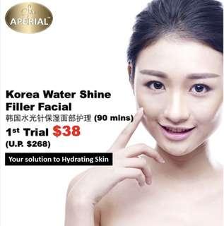 Korea Water Shine Meso Filler Facial 韩国水光针保湿紧实面部护理