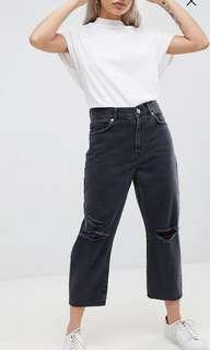 ASOS black wide legged jeans