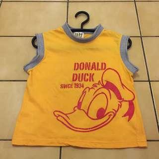 (八成新)That's Donald 迪士尼 Disney 唐老鴨 童裝 無袖 上衣💮