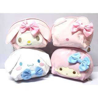Cinnamoroll / Hello Kitty / Lala / My Melody LEATHER TYPE POUCH