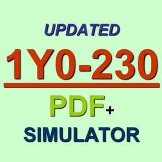 Citrix NetScaler 12 Essentials and Unified Gateway Test 1Y0-230 Exam QA PDF+SIM