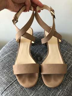 Nine West - beige strappy sandals Size 9.5