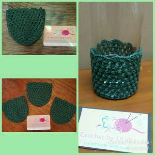 Crochet glass sleeve