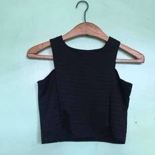 Black Fitted Cropped Top