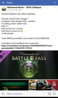 STEAM WALLET CODE (terlampau Murah)