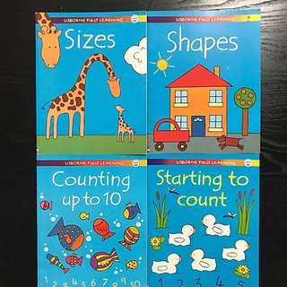 Usborne First Learning Activity Books