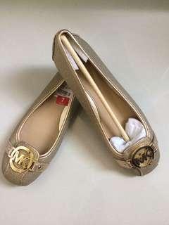 Michael Kors Flat Shoes Fulton Moc in Metallic Gold