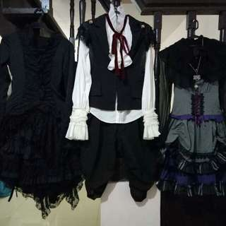 Gothic costumes 650.00 each