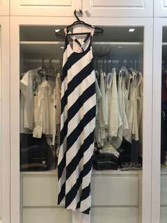 Nautical Stripes Maxi Dress