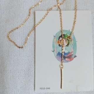 ❣ Y Elegant Necklace Golden Toned
