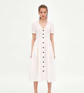 (PO) Zoe Buttoned Linen Maxi Dress