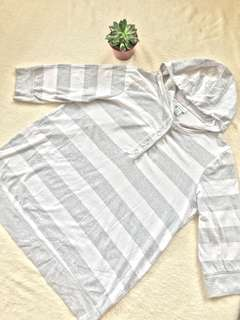 Maternity stripes blouse