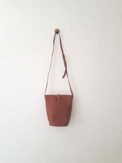 Vintage Brown Bucket Bag