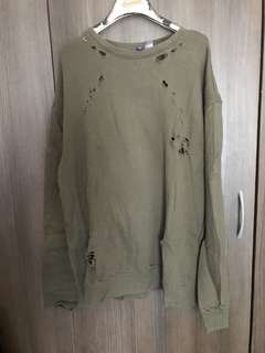 Yeezy Inspired Distress Pull over