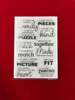Words #9 scrapbook clear stamps