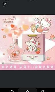 Hello Kitty 粉紅蜜桃酒 星星 台灣季節限定