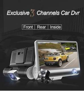Exclusive 3 Channels Car DVR