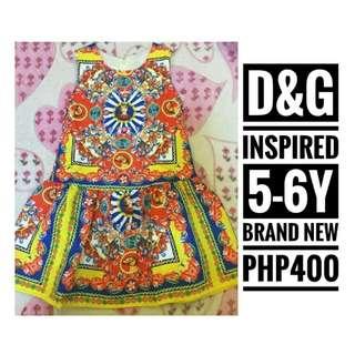D&G INSPIRED DRESS FOR GIRLS