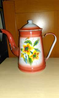 Vintage enamel teapot.