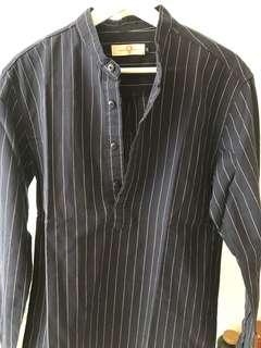 Cheap edison store blue stripes pullover