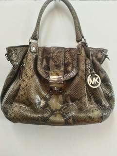 Michael Kors snakeskin bag