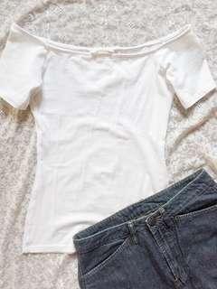 H&M White Off-Shoulder