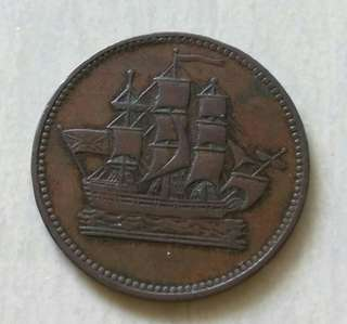 Prince Edward Island 1830-1860 Half Penny Token With Nice Details