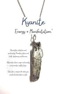 Kyanite Raw necklace (nontarnish)