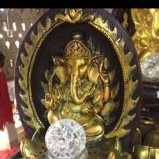 {FS138} 12 inches tall Lord Ganesha Elephant God Fortune Water