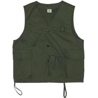 🚚 中性小時裝工作版型軍綠色背心