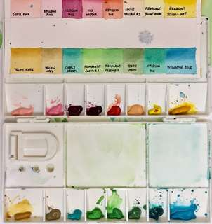 46 colors Holbein Artist's Watercolor palette