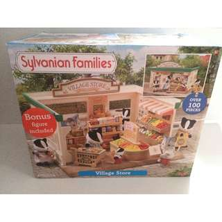 SYLVANIAN FAMILIES SUPERMARKET / VILLAGE GROCERY (EUC) with BOX