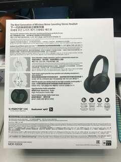 SONY MDR-1000X 觸控式藍芽降噪耳機LDAC 台灣公司貨 盒裝