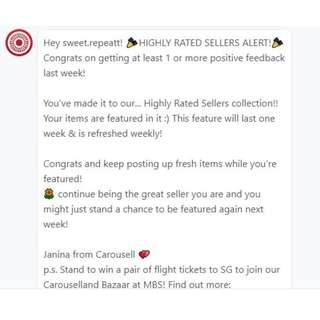 Thank you Carousell! :)