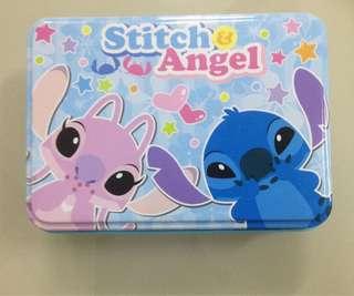 Stitch & Angel tin box