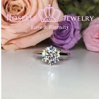經典六爪單石戒指-NT1(RZ人造鑽石)