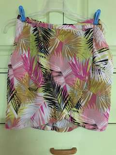 Tropical Short Skirt