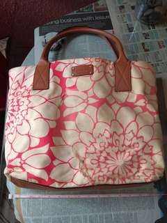 Kate Spade canvas and leather handbag
