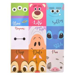 Japan Disneystore Disney Store Disney Character Sticky Notes Notepad (Large)