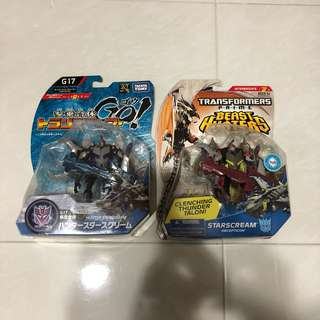Transformers GO! - Hunter Starscream & Beast Hunter - Starscream (both for $28 and MOSC)
