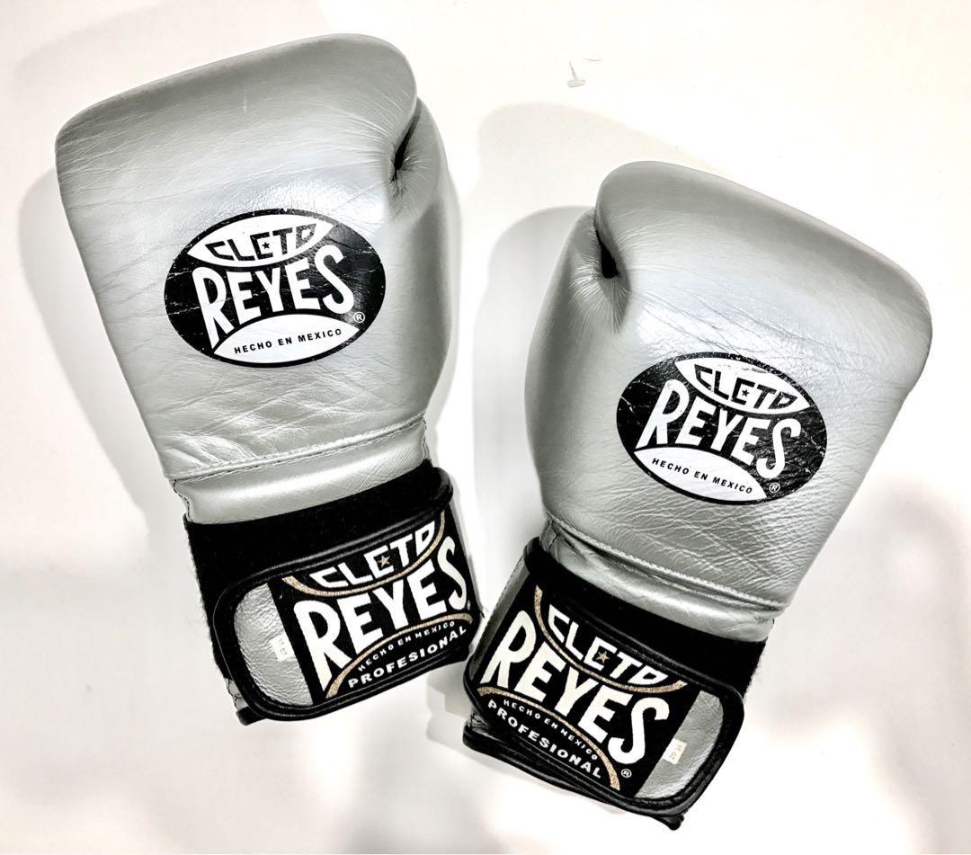 14OZ Cleto Reyes Boxing Gloves ( Silver ), Sports, Sports